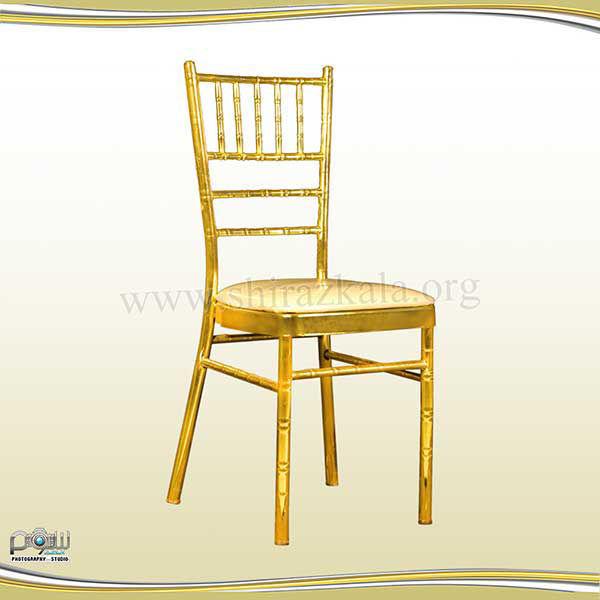 صندلی شیواری طلایی آبکاری