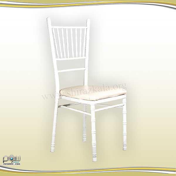 تصویر صندلی شیواری سفید رنگی