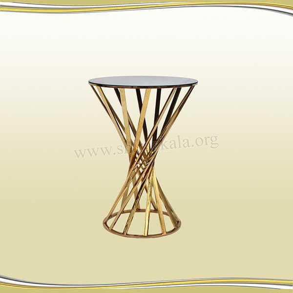 تصویر میز سوارز هندسی طلایی 80