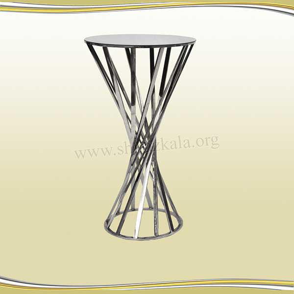 تصویر میز سوارز هندسی نقره ای100