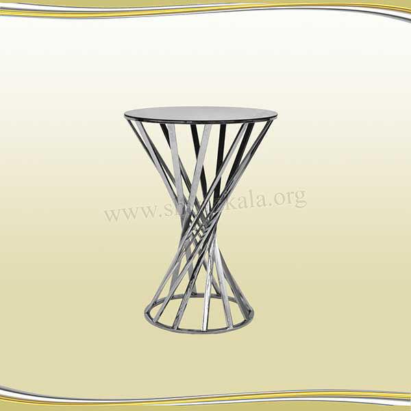 تصویر میز سوارز هندسی نقره ای 80