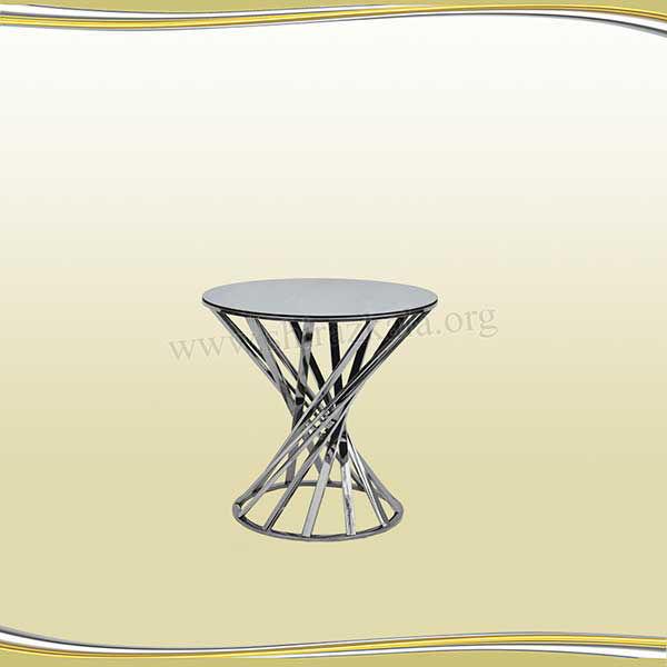 تصویر میز سوارز هندسی نقره ای60
