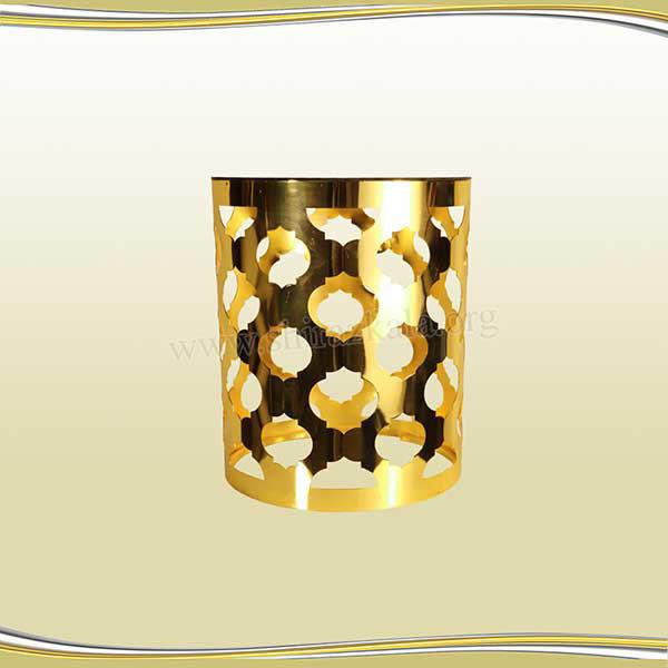 تصویر میز دکوری طلایی طرح اناری سایز متوسط