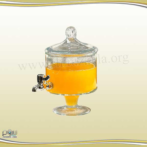 تصویر کلمن  شربت شیشه ای 4لیتری