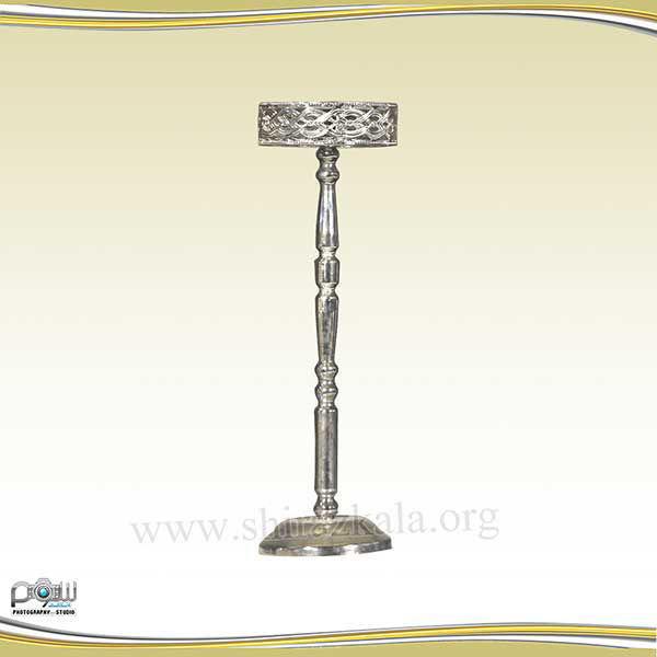 تصویر پایه گل نقره ای بدون گل
