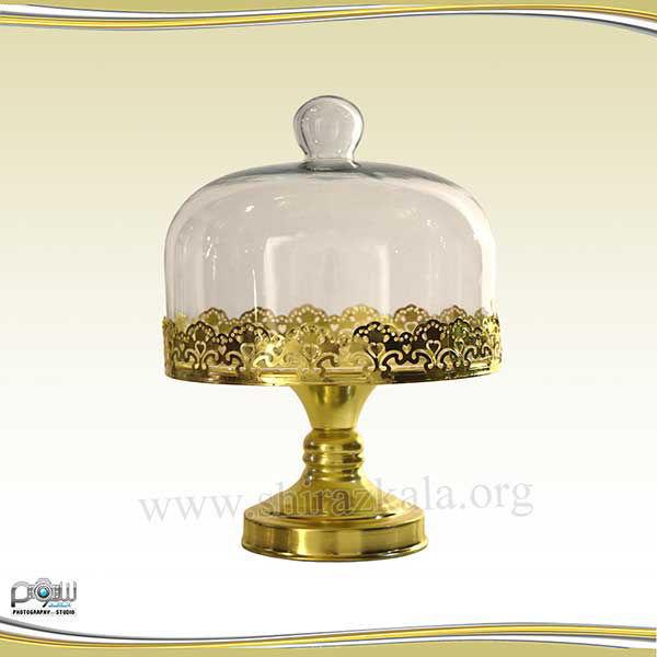 تصویر ظرف کاپ کیک دربدار طلایی