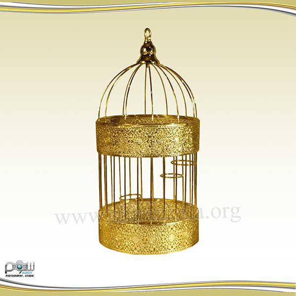 تصویر قفس طلایی ساده بزرگ