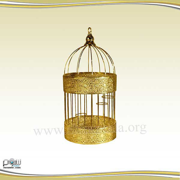 تصویر قفس طلایی ساده متوسط