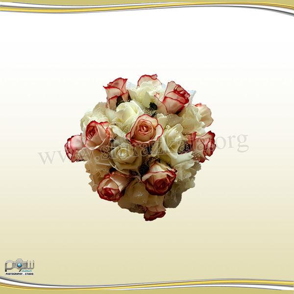 تصویر نیم توپ گل رز کوچک