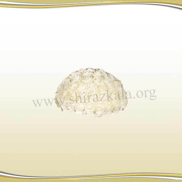 تصویر نیم توپ گل رز سفید کوچک